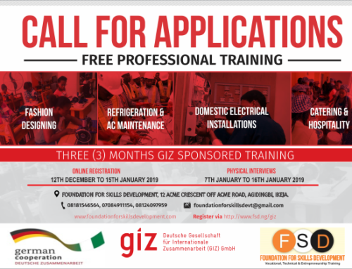GIZ to sponsor Job Creation for 300 Nigerian Youths