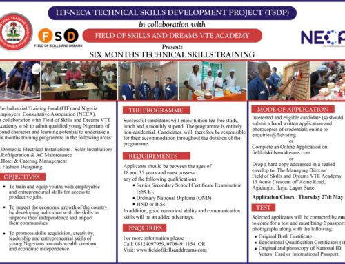 Free Training by ITF/NECA TSDP