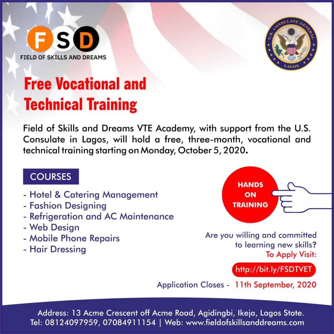 Free Vocational And Technical Training